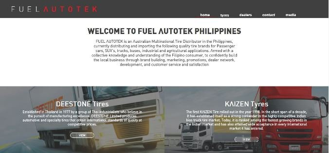 Screenshot of Fuel Autokek website