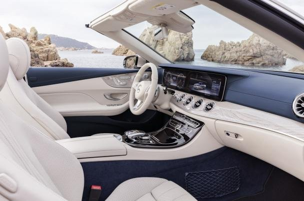 Cabin of the 2018 Mercedes-Benz E-Class Cabriolet