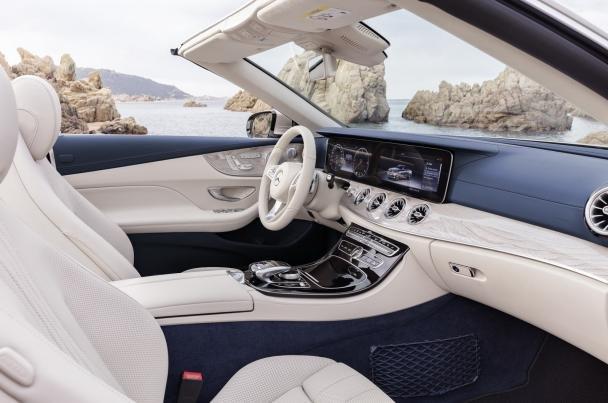 Cabin of the 2018 Mercedes-Benz E-Class Cabriolet