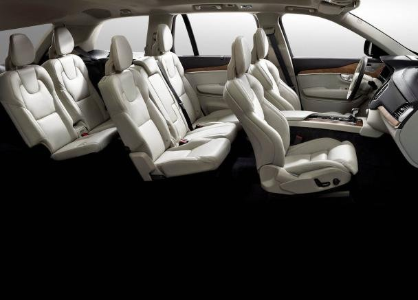 interior of the Volvo XC90
