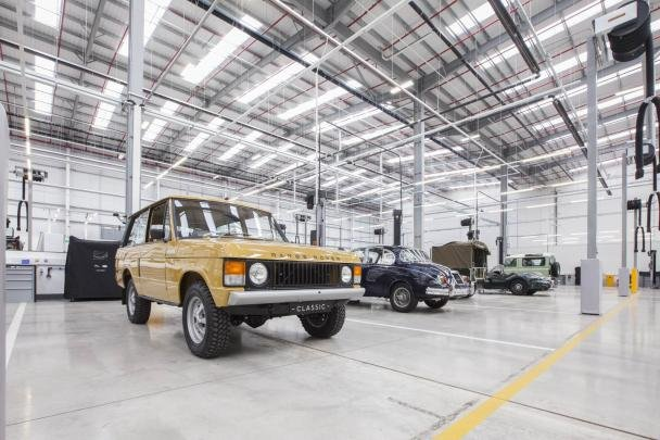 Inside of the Classic Works of Jaguar Land Rover