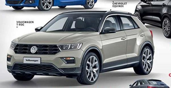 angular front of the VW T-Roc in Car And Drive magazine