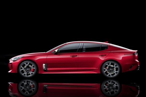 Side view of the Kia Stinger