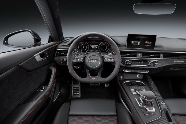 The 2017 Audi RS5's cabin