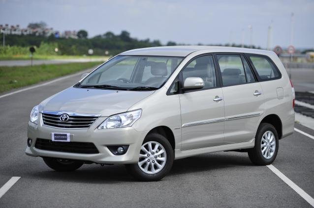 angular front of the Toyota Innova
