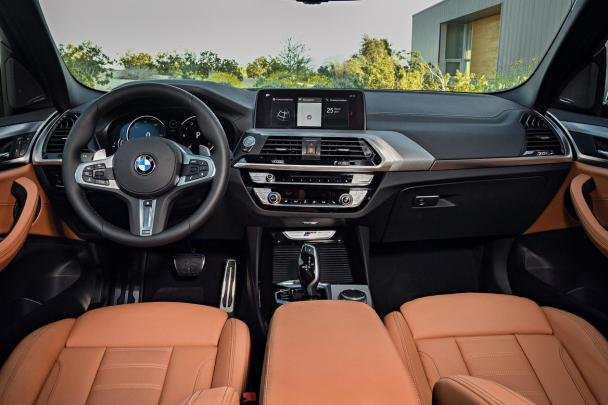 Interior of the 2018 BMW X3