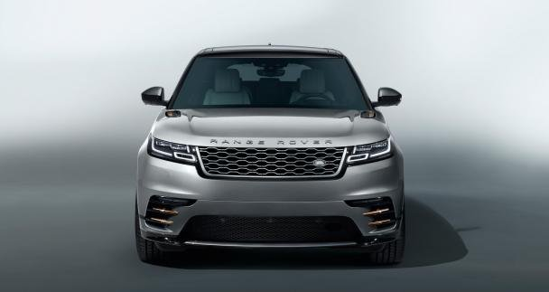 Front view of the Range Rover Velar
