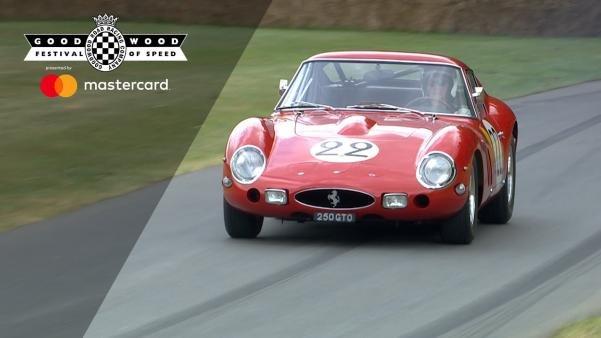 Ferrari 250 GTO on the road