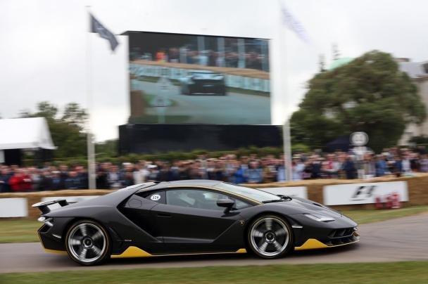Lamborghini Centenario Limited Edition on the road