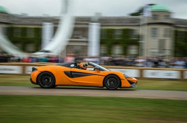 Side view of the McLaren 570S Spider
