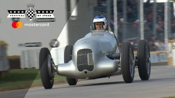 Supercharged 1934 Mercedes W25 on the road