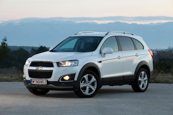 angular front of the Chevy Captiva