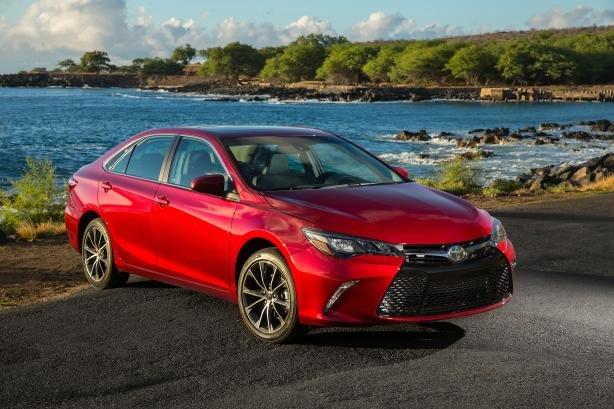 angular front of the Toyota Camry