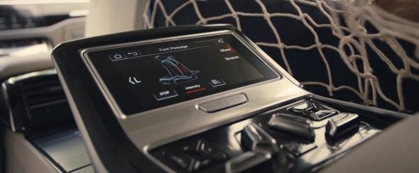touch panel of the foot massaging system in the 2018 Audi A8