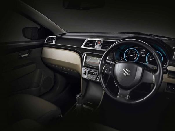 Cockpit of the Suzuki Ciaz