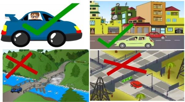 Picture of the dos and don'ts when driving during earthquakes