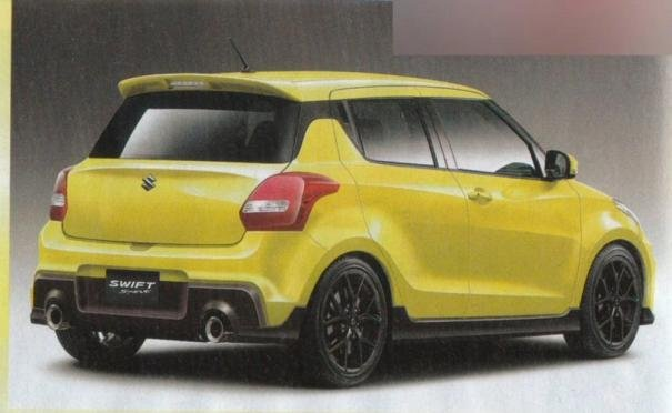 Rendering of the 2017 Suzuki Swift Sport