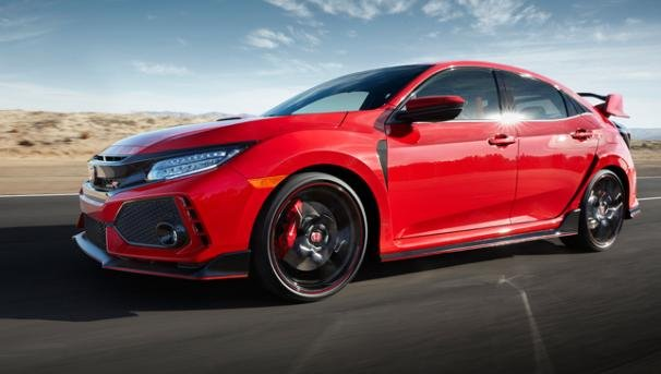 Side view of the 2017 Honda Civic Type R