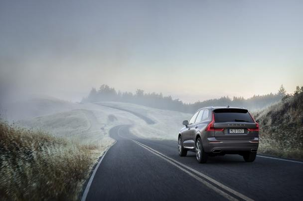 angular rear of the new Volvo XC60 T8 Polesta