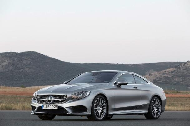 angular front of the 2018 Mercedes-Benz S-Class coupe