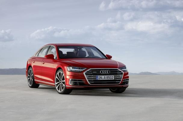 angular front of the 2018 Audi A8