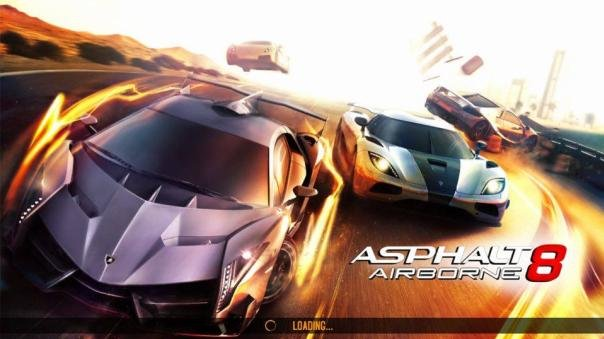 Screenshot of the Asphalt 8: Airborne racing game