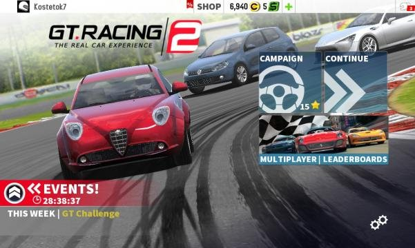 Car racing scene in GT Racing 2