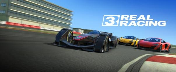 screenshot of the a car racing scene in Real Racing 3
