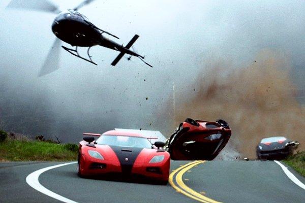car crashed and overturned