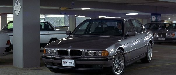 BMW 750iL in Tomorrow Never Dies movie