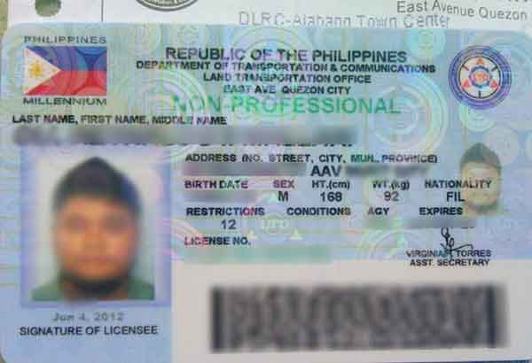 Philippine driver license