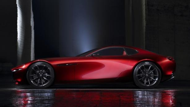 Side view of the Mazda RX-9