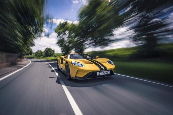 the Ford GT on the road