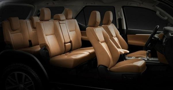 Row seats of the Toyota Fortuner
