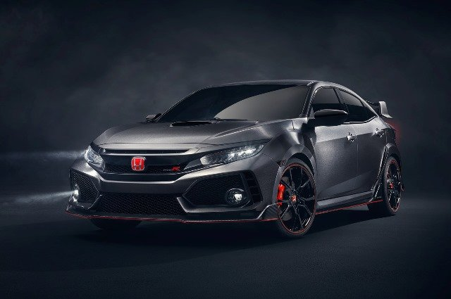 Silver New Honda Civic angular front view
