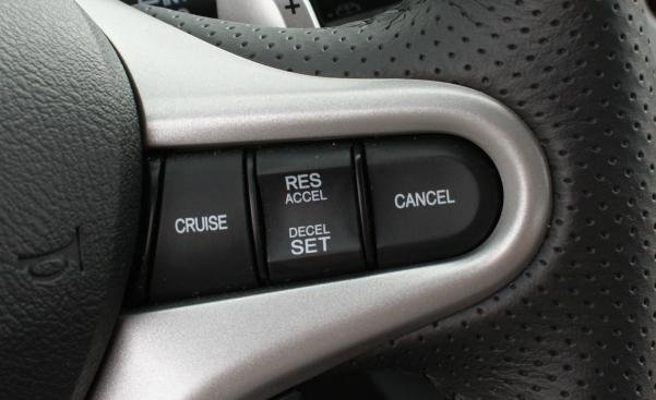 cruise control button in a car