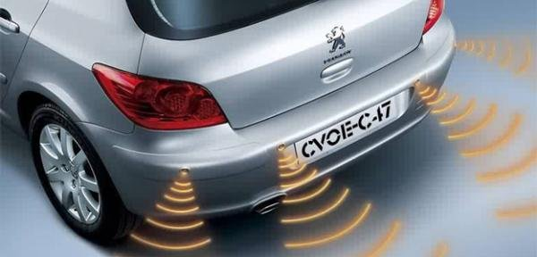 illustration of how rear parking sensors (tie) works