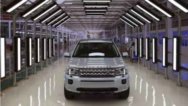 Jaguar Land Rover car at an assembly plant