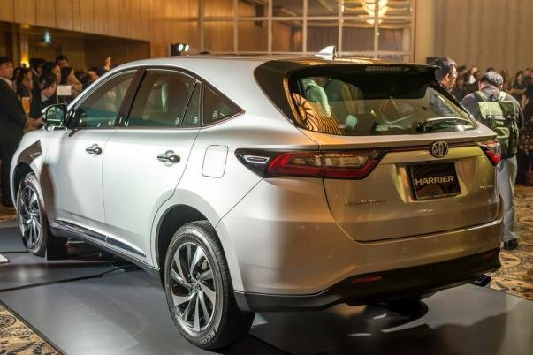 angular rear of the Toyota Harrier