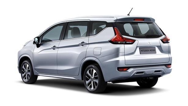 Mitsubishi's next-gen MPV angular rear view