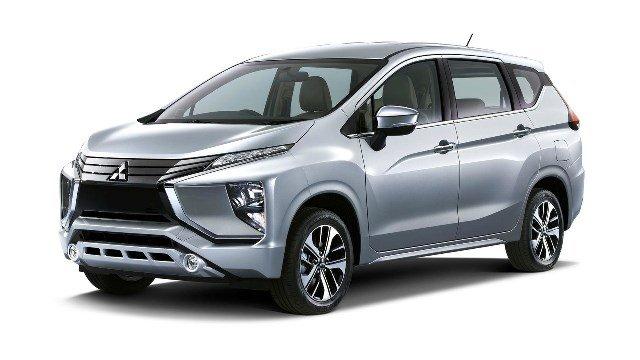 Mitsubishi's next-gen MPV angular front view