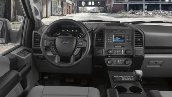 inside of a Ford F-150