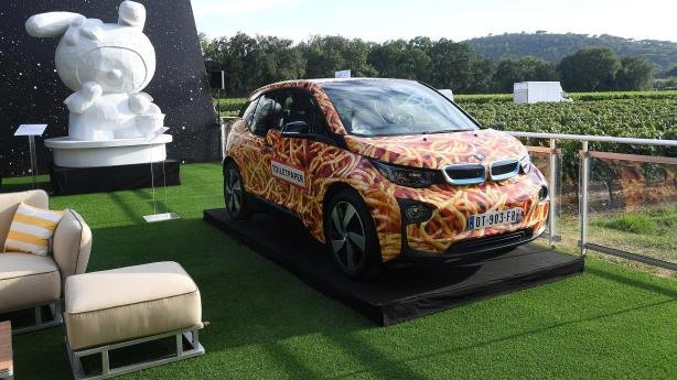 BMW i3 Spaghetti Car at the Leonardo DiCaprio Foundation's Fourth Annual Saint-Tropez Gala