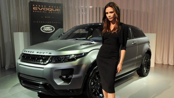 Victoria Beckham and a Range Rove Evoque