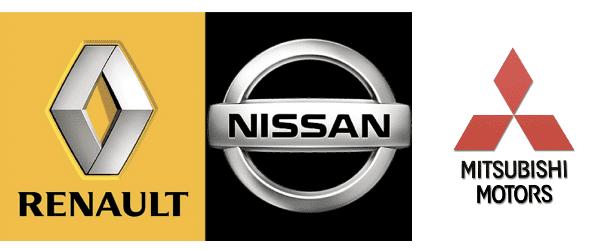 Logos of Renault-Nissan-Mitsubishi