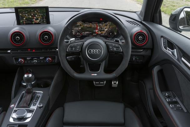 2018 audi rs3 interior.  rs3 2018 audi rs3 sedan the car also receives super sport seats covered by  black fine nappa leather intended audi rs3 interior