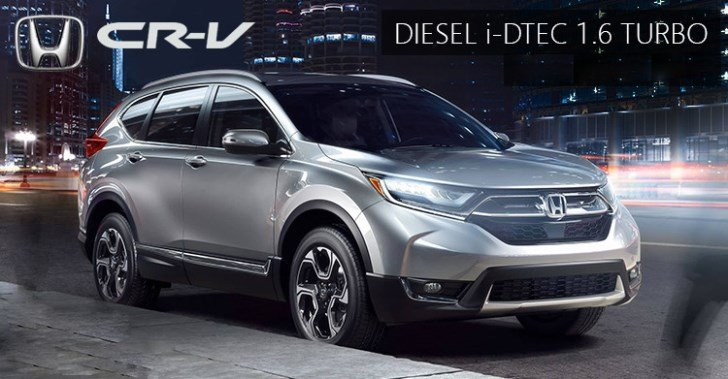diesel-powered Honda CR-V poster