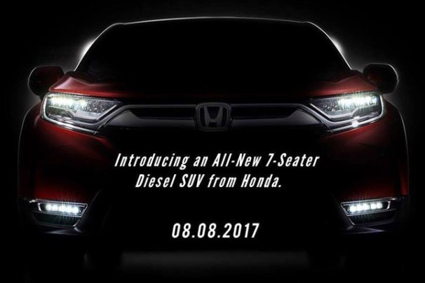 Poster to introduce an all-new 7-seater diesel SUV from Honda