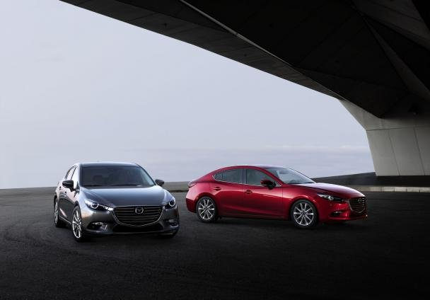 Two models of 2018 Mazda 3