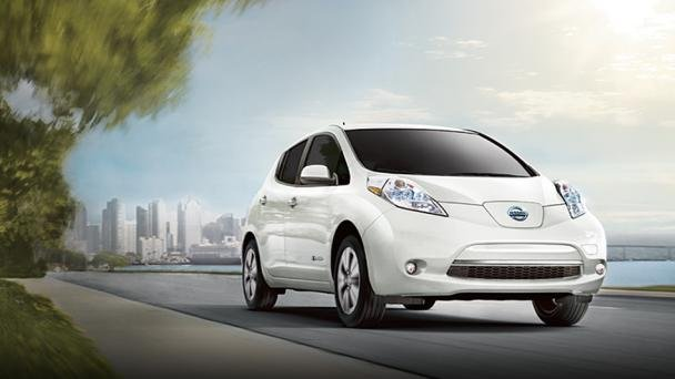 angular front of the Nissan LEAF